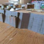 擁壁と橋桁の作成