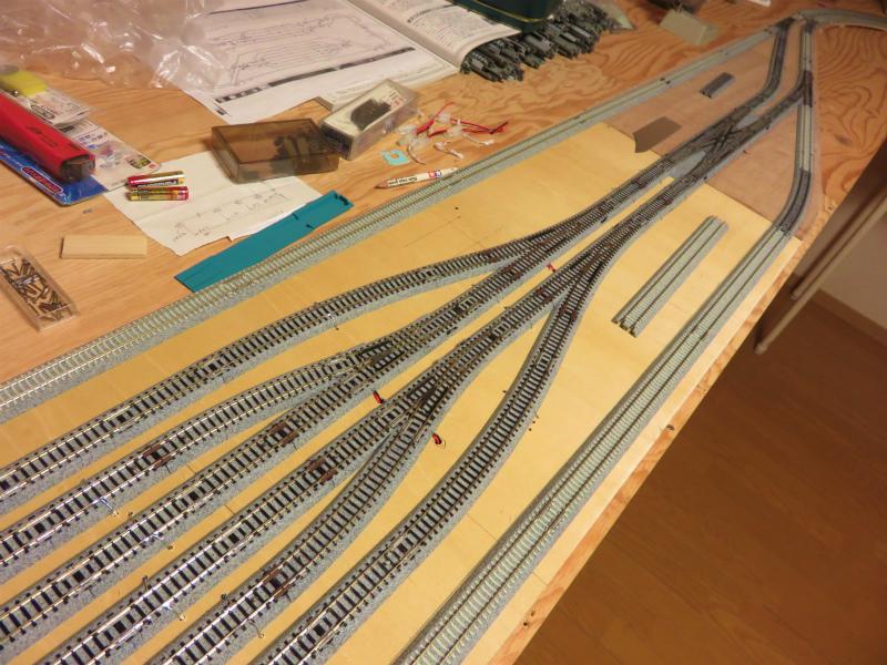 KATOユニトラックを使った線路の敷設