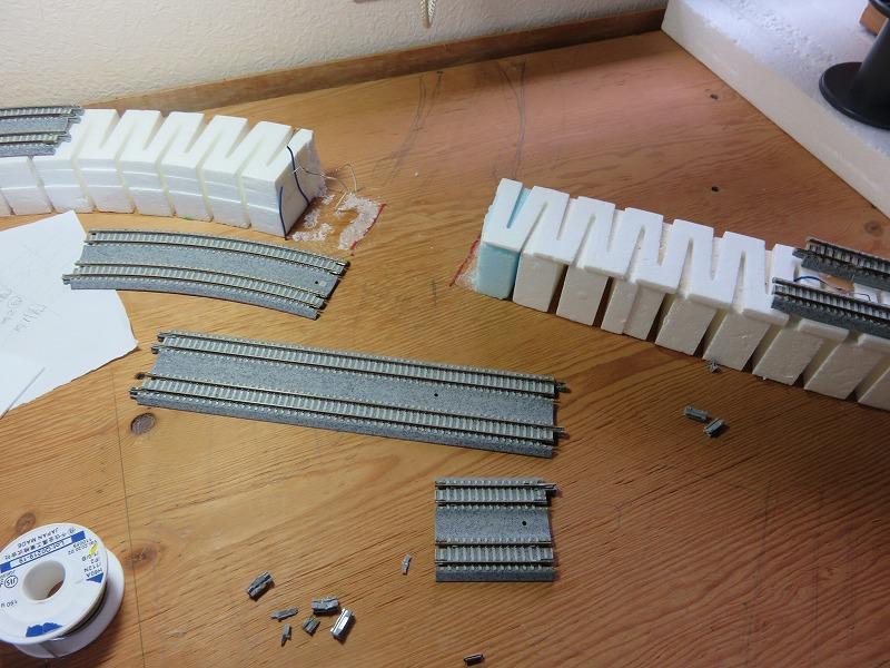 鉄道模型 大型レイアウト デッキガーダー橋