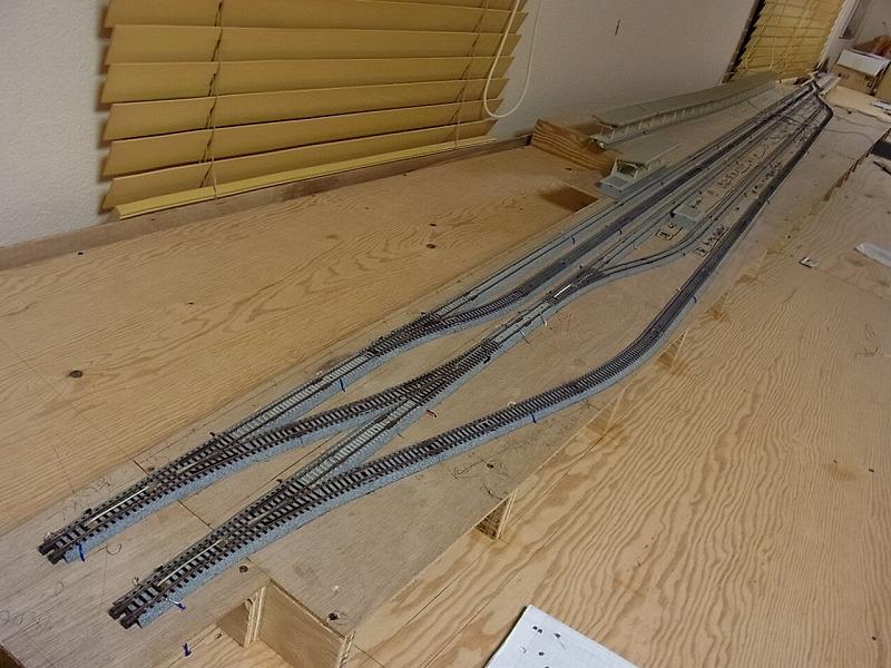 駅構内の線路敷設