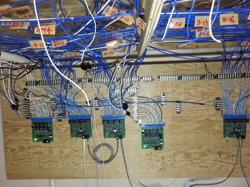 本線部分のBDL168の配線完了と試運転