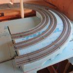 赤羽方面カーブ区間の線路の敷設