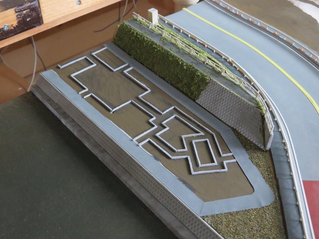 土手 公園 レイアウト ジオラマ 鉄道模型