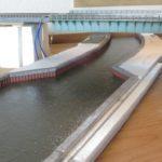 備前川の作成 その2 (鋼矢板護岸と水面の作成)